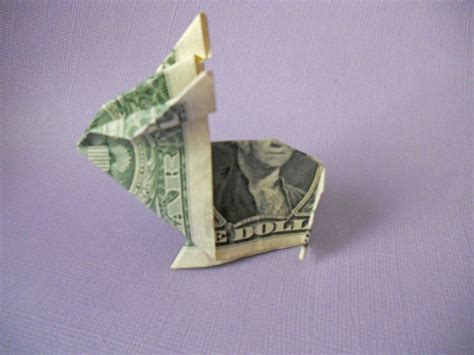 Dollar Bill Origami Rabbit - learn how to make a crafty origami bunny out of