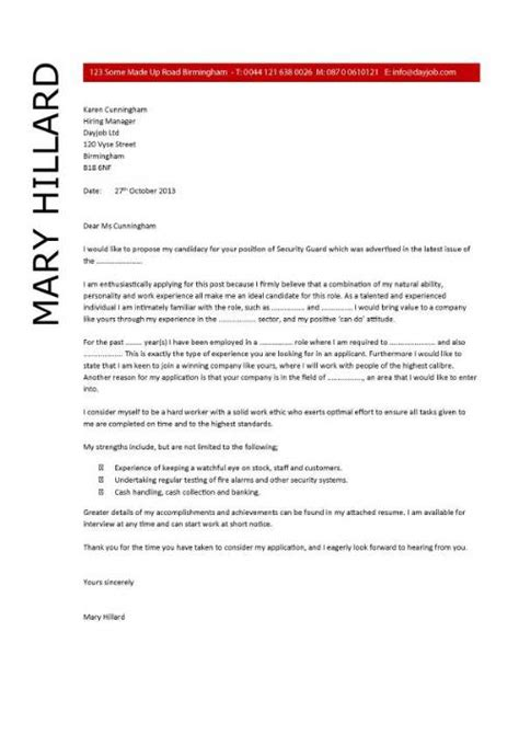 entertainment security guard cover letter format of receipt cl