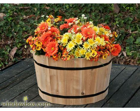 Oak Barrel Planter Ideas by Best 25 Whiskey Barrel Planter Ideas On Half