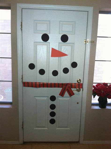 Snowman Door by Snowman Front Door Only