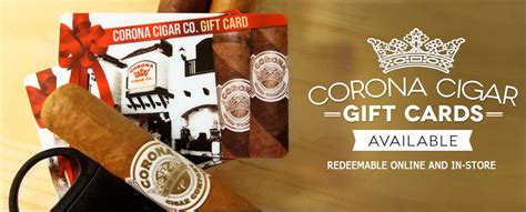 Cigar Gift Card - buy cigar gift cards online corona cigar company