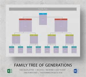 Blank Family Tree Templates by Blank Family Tree Template 31 Free Word Pdf Documents