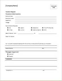 employee vacation request form template employee vacation request form for ms word document hub