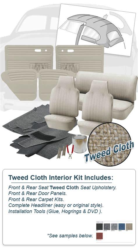 Vw Bug Interior Kit by Deluxe Tweed Cloth Vw Interior Kit Beetle Sedan 1969 Vw Parts Jbugs