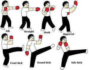 kickboxing basic moves candies amp crunches pinterest