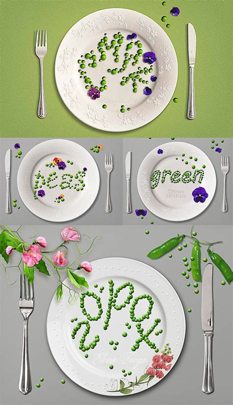 food typography tutorial photoshop create a green pea text effect in photoshop photoshop