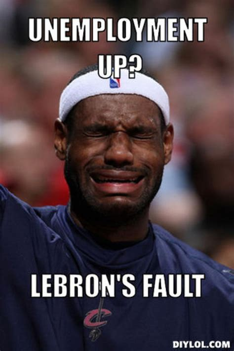Lebron James Crying Meme - lebron s fault know your meme