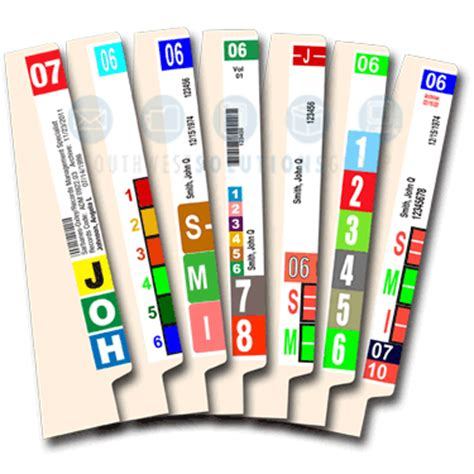 file side label template side tab folders and color coded filing supplies