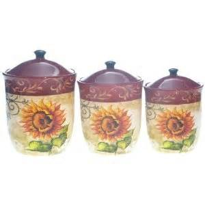 Sunflower Kitchen Canisters by Tuscan Sunflower Kitchen Canisters Sunflower Pinterest