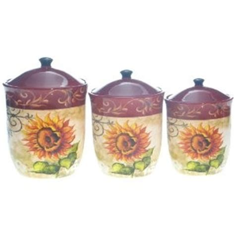 sunflower canisters for kitchen tuscan sunflower kitchen canisters sunflower