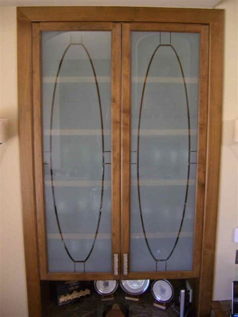 Frosted Glass Cabinet Door Inserts Frosted Glass Cabinets Cabinet Glass Inserts Etched Sans Soucie