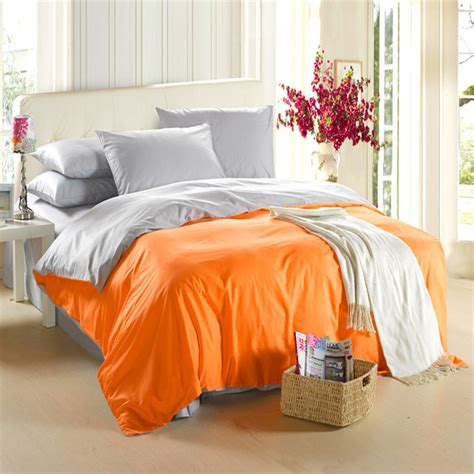 orange and grey comforter aliexpress com buy orange silver grey bedding set king