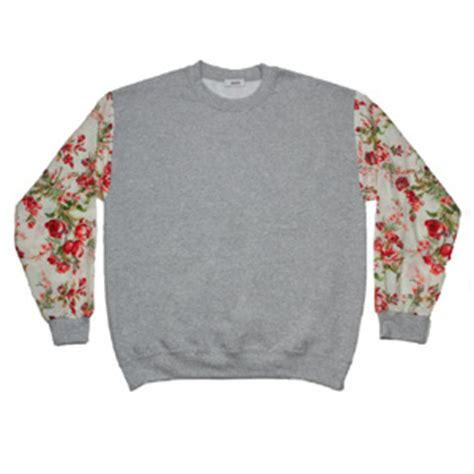 grey jumper patterned sleeves floral grey flower sleeve jumper bundy webster