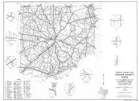 map of gilmer texas 1961