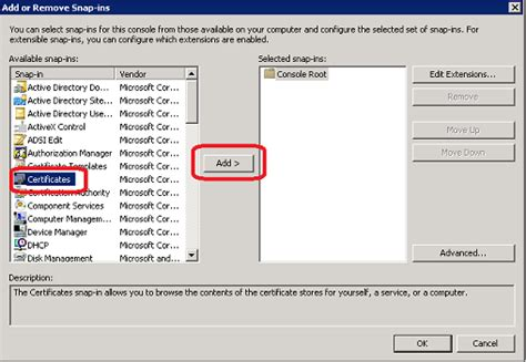 networker management console creating an offline certificate request in windows server