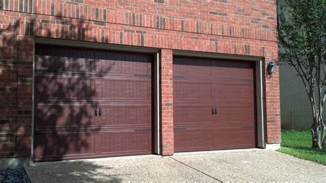 Cornell Overhead Door Cherry Wood Finish This Seems To Be A Trend You Get The Wood Look And Don T Pay The Wood Price