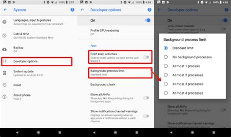 android background process limit how to find out battery draining apps on android oreo stop them mashtips