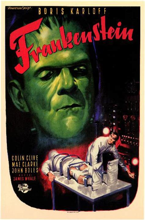 Poster Classic Vintage Frankenstein classic horror posters frankenstein 1931 poster mini poster style b