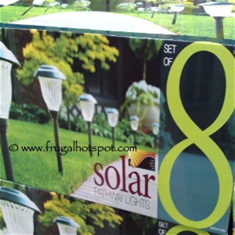 paradise solar lights costco costco deal paradise solar pathway led lights 8 19