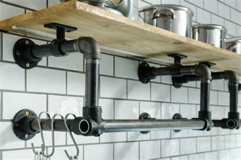 pipe shelves kitchen 10 useful pipe furnishing ideas caster connection