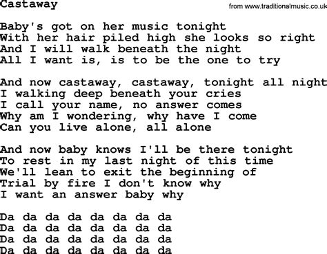 cast away song bruce springsteen song castaway lyrics