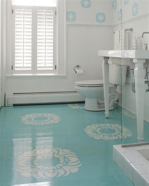 house of turquoise beautiful blue painted floors