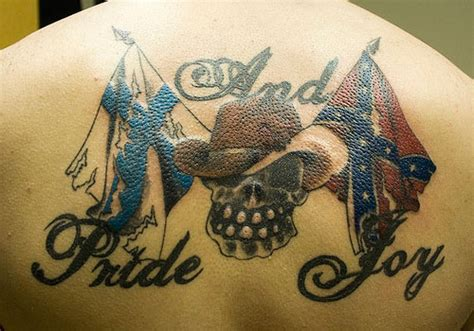 white pride tattoo designs 25 magnificent rebel flag tattoos creativefan