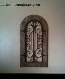 arched wall decor metal wood arch wall panel antique vintage rustic chic