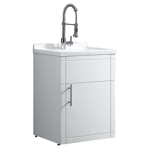 Ove Utility Sink Cabinet by Ove Decors Utility Sink With Vanity 1 Door Pvc Acrylic