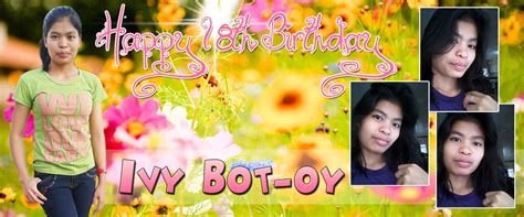 tarpaulin layout design for debut ivy botoy s flower theme debut cebu balloons and party