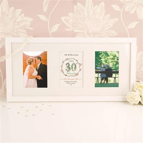 30th wedding anniversary photo frame 30th wedding anniversary print frame forever bespoke