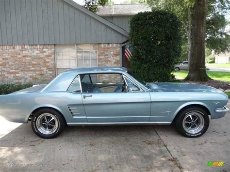 silver blue color 1966 ford mustang silver blue