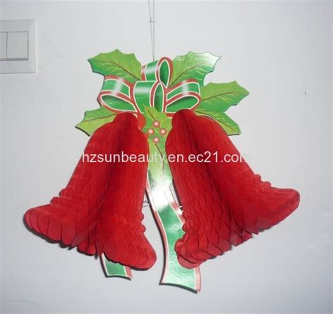 Fold Out Paper Decorations - sunbeauty paper decoration bell sc 5020 id