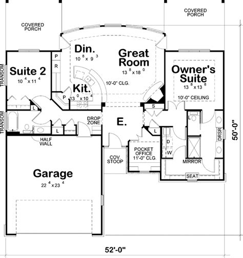 two bedroom two bath house plans contemporary house plan 2 bedrooms 2 bath 1436 sq ft plan 10 1627