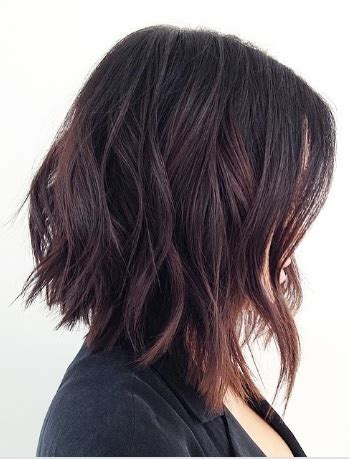 black hair color with a line cut 2015 the beachy a line bob mane interest