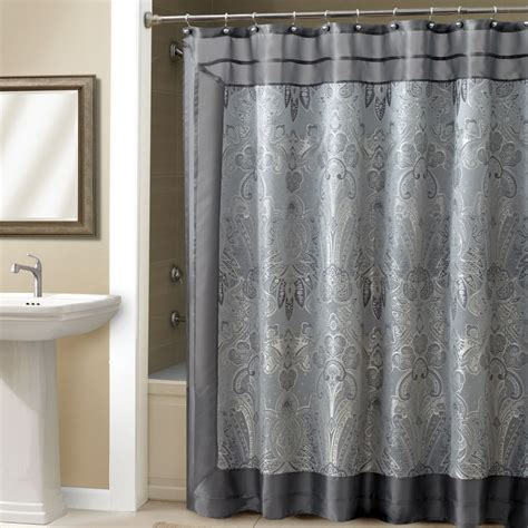 Gray Shower Curtains Bathroom Awesome Grey Shower Curtain For Bathroom Decoration Ideas Stvladimirs Net