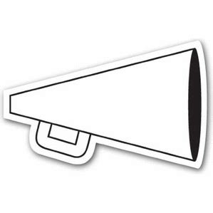megaphone template megaphone outline www pixshark images galleries