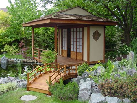 Japanese Garden Sheds japanese teahouse and koi pond brentwood