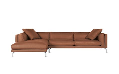 como sectional como sectional chaise in leather left design within reach