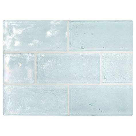 recycled glass backsplash tile trueglass tile 2 quot x 4 quot recycled glass windham pearl