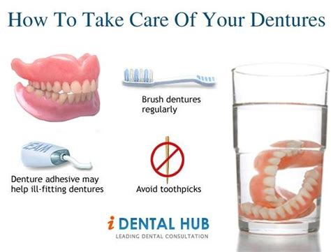how to take care of a how to take care of your dentures dental care identalhub pinter