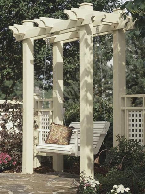 arbor woodworking plan  wood magazine