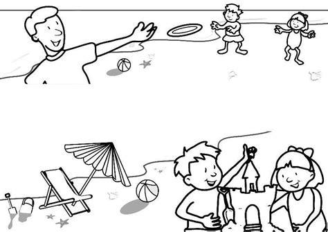 imagenes de vacaciones animadas para colorear dibujo para colorear vacaciones en la playa img 7313
