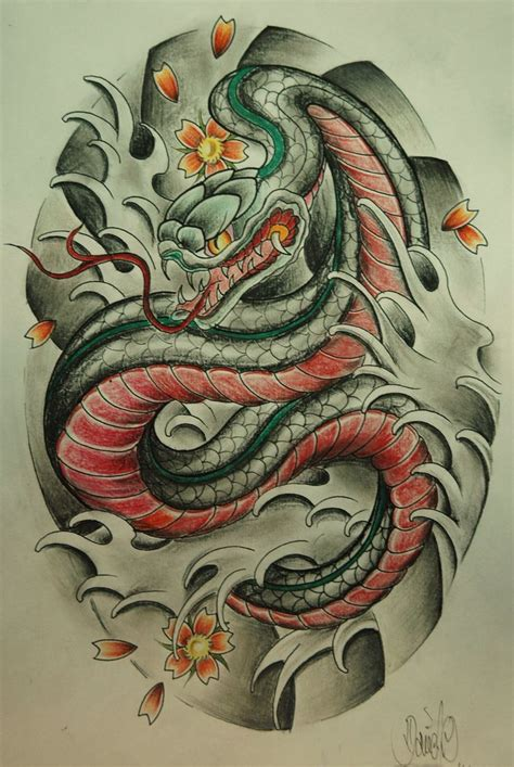asian snake tattoo designs japanese snake ideas snakes