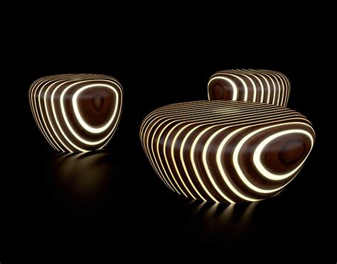 lighted outdoor furniture by avanzini bright woods ultra modern decor