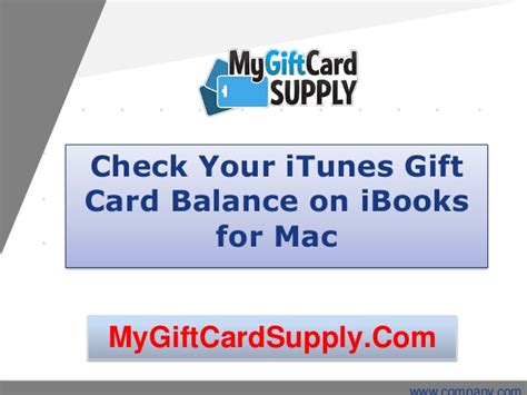 Check A Gift Card Balance - check your itunes gift card balance on ibooks for mac