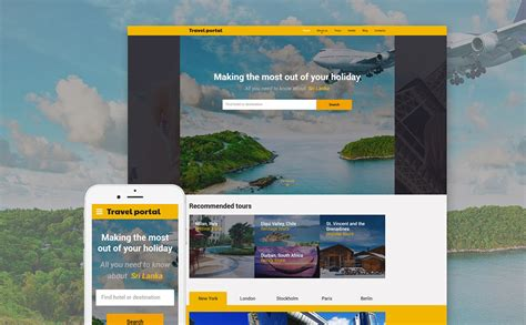 travel portal templates 10 mobile friendly travel tourism website templates
