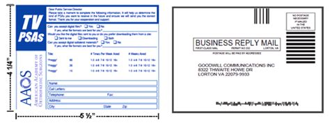 business reply mail card template welcome to goodwill communications a service