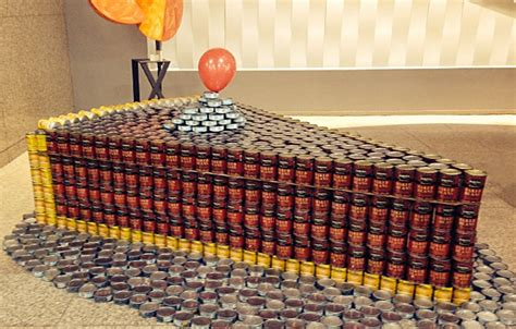 how to build a canned food sculpture 1000 images about can construction on pinterest