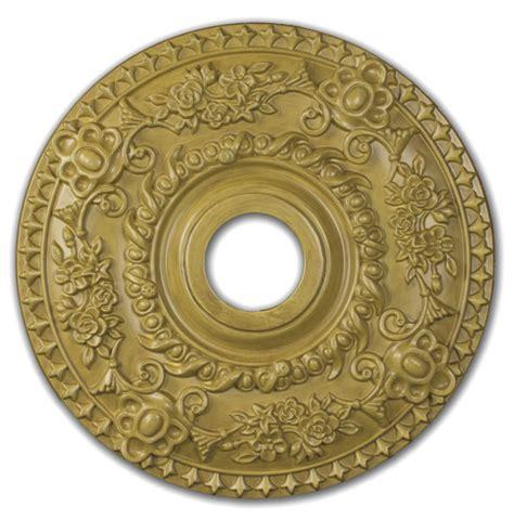 wishihadthat round ceiling medallion wood finish